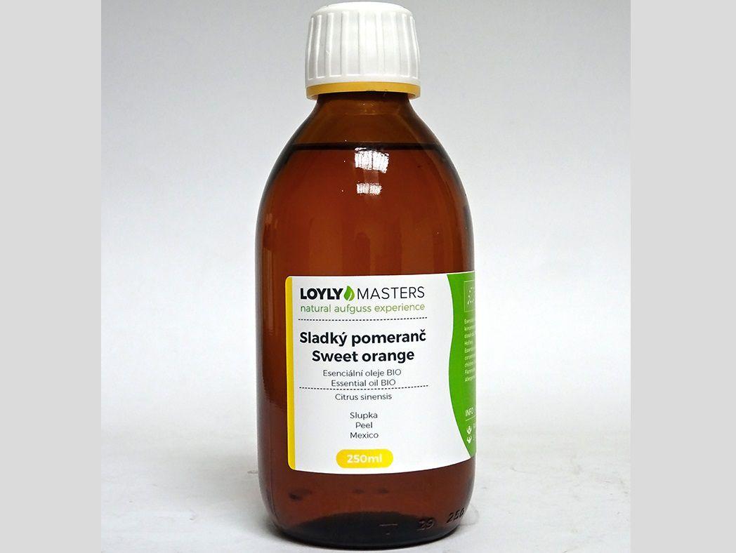 Aroma esence Hanscraft 100% EO LOYLY MASTERS Sladký pomeranč - 250ml - BIO, 0.38kg (176487)