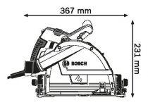 Bosch GKT 55 GCE Professional ponorná pila 165mm, 1400W + L-Boxx (0601675001) Bosch PROFI