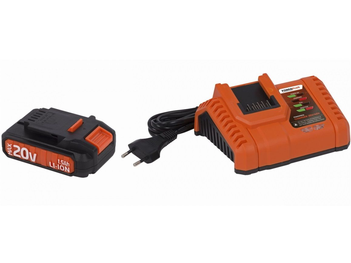 Sada nabíječky a akumulátoru PowerPlus POWDP9060 - 1x aku 20V/1.5Ah + nabíječka PowerPlus (VARO)