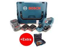 Bosch GHO 18 V-LI Professional - 2x 18V/5.0Ah Li-ion, 82mm, 2.6kg, kufr L-BOXX, aku hoblík + dárek