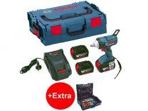 Bosch GDX 18 V-EC Professional - 2x 18V/5.0Ah, 185Nm, 1.7kg, kufr , aku rázový utahovák + dárek