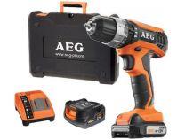 AEG BSB 12 G3Li-202C - 2x 12V/2.0Ah, 32Nm, 2 rychl., 1.2kg, kufr, aku vrtačka s příklepem