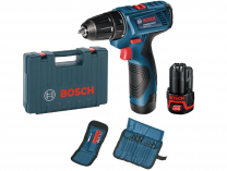 Bosch GSR 120-LI Professional - 2x 12V/1.5Ah, aku vrtačka + Sada vrtáků a bitů