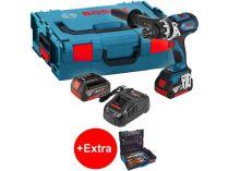 Bosch GSR 18 VE-EC Professional - 2x 18V/5.0Ah, 75Nm, kufr, bezuhl. aku vrtačka bez příklepu + dárek