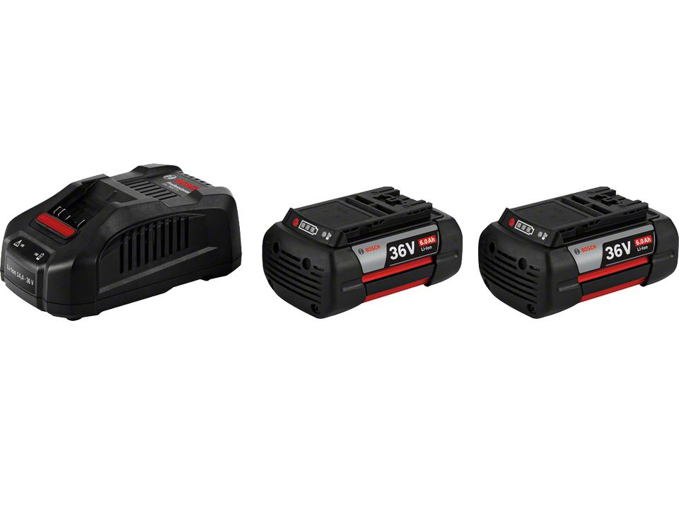 Bosch Starter Set 2 x akumulátor GBA 36V 6.0 Ah + rychlonabíječka GAL 3680 CV Professional (1600A00L1U) Bosch příslušenství