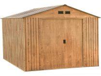 Plechový zahradní domek Duramax Colossus 7.8m2 - imitace dubového dřeva, 210.5x321.3x242.3cm