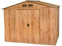 Plechový zahradní domek Duramax Titan 4.7m2 - imitace dubového dřeva, 205.5x261x182.2cm