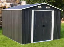 Plechový zahradní domek Tinman TIN407 - šedý, 365x321x222cm, 135kg