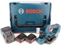 Bosch GHO 18 V-LI Professional - 2x 18V/5.0Ah Li-ion, 82mm, 2.6kg, kufr L-BOXX, aku hoblík