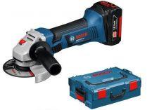 Bosch GWS 18-125V-LI Professional - 2x 18V/5.0Ah, 125mm, 2.3kg, kufr, aku úhlová bruska