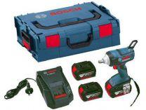 Bosch GDS 18 V-EC 250 Professional - 2x 18V/5.0Ah, 250Nm, 1.9kg, kufr, aku rázový utahovák