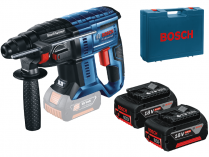 Kombi aku kladivo Bosch GBH 180-LI Professional - 2x aku 18V/4.0Ah, 1.7J, kufr