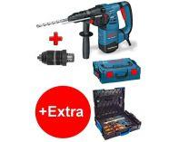 Vrtací a sekací kladivo Bosch GBH 3-28 DFR Professional - SDS-Plus, 800W, 3.5J, kufr + dárek
