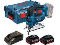Bosch GST 18 V-LI B Professional - 2x 18V/5.0Ah Li-ion, 2.4kg, kufr, aku přímočará pila