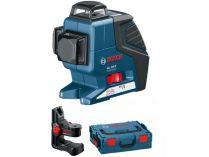 Křížový laser Bosch GLL 3-80 C Professional + držák BM 1 - 1x 12V/2.0Ah, 0.9kg, kufr