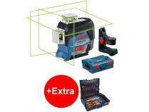 Křížový laser Bosch GLL 3-80 CG Professional + držák BM 1 - 1x 12V/2.0Ah, kufr + dárek