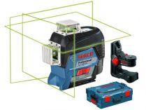 Křížový laser Bosch GLL 3-80 CG Professional + držák BM 1 - 1x 12V/2.0Ah, kufr