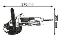 Bosch GBR 15 CAG Professional bruska na beton 125mm, L-Boxx + dia hrncový kotouč (0601776001) Bosch PROFI