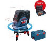 Křížový laser Bosch GCL 2-50 C Professional - 1x 12V/2.0Ah, kufr L-BOXX + dárek