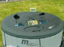 Saunovací kryt MSpa - pro mobilní MSpa vířivky, kulatý pro 4 osoby - 3 otvory, 2.8kg
