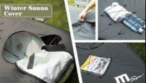 Saunovací kryt MSpa - pro mobilní MSpa vířivky, kulatý pro 4 osoby - 3 otvory, 2.8kg (171190) Hanscraft