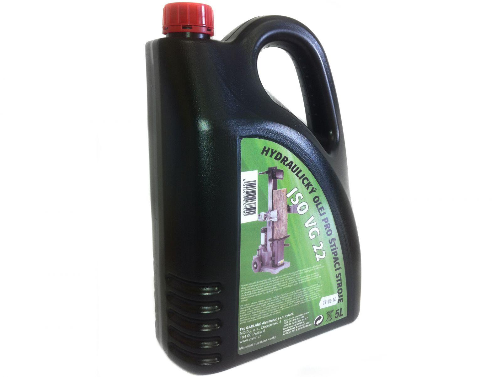 Hydraulický olej Scheppach Woodster 5L nejen pro štípače dřeva (ISO VG 22, 6743/4, DIN 51 524))
