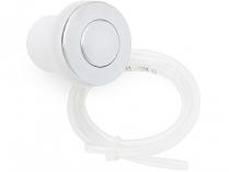 Komplet Pneu-tlačítko včetně hadičky, lesklý chrom, k zapínání drtiče - pro drtiče odpadu EcoMaster
