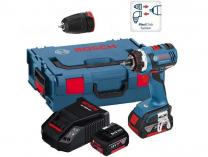 Bosch GSR 18 V-EC FC2 Professional - 2x 18V/5Ah, 50Nm, 1.7kg, kufr L-BOXX, bezuhlíková aku vrtačka