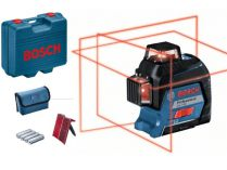 Křížový laser Bosch GLL 3-80 Professional - 0.82kg, ochranné pouzdro, kufr