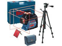 Křížový laser Bosch GLL 3-80 Professional + stativ BT 150 - 0.74kg, ochranné pouzdro, kufr