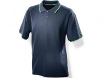Pánské tmavě modré triko s límečkem Festool M - 100% česaná bavlna
