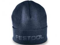 Pletená čepice Festool - modrá, 100% akryl