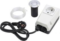 Pneumatický spínač komplet - tlačítko chrom lesklý, pro drtiče odpadu EcoMaster
