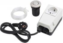 Pneumatický spínač komplet - tlačítko nerez matný, pro drtiče odpadu EcoMaster