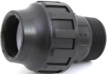 """Redukce vyústění odpadu drtiče 2"""" závit / 50 HT - pro připojení profi drtiče EcoMaster"""