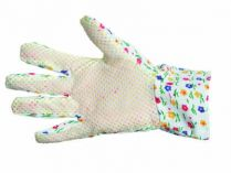AVOCET - zahradnické rukavice s PVC terčíky velikost 9
