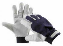 PELICAN BLUE - rukavice kozinka kombinované velikost 10