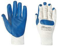 Pracovní rukavice POWER WORKER gumová dlaň velikost 9 - blistr
