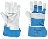 Pracovní rukavice PREMIUM BLUE kůže 1,2mm velikost 10,5 - blistr