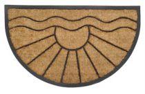 PRECIS - rohožka 45x75cm, kokos + guma, půlkruh