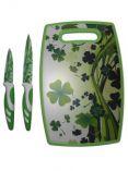 PRECIS - sada 3 ks - 2x nůž + plastové prkénko - barevné…