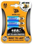 JCB OXI DIGITAL alkalická baterie AA/LR06, blistr 4 ks