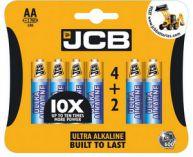 JCB OXI DIGITAL alkalická baterie AA/LR06, blistr 6 ks
