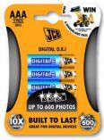 JCB OXI DIGITAL alkalická baterie AAA/LR03, blistr 4 ks