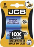 JCB OXI ULTRA alkalická baterie D/LR20, blistr 2 ks