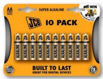 JCB SUPER alkalická baterie AA/LR06, blistr 10 ks