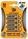 JCB SUPER alkalická baterie AA/LR06, blistr 4 ks