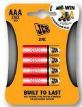 JCB zinko-chloridová baterie AAA/R03, blistr 4 ks