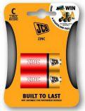 JCB zinko-chloridová baterie C/R14, blistr 2 ks