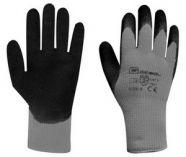 Pracovní rukavice WINTER GRIP šedé velikost 10 - blistr